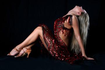 blonde latin dancer