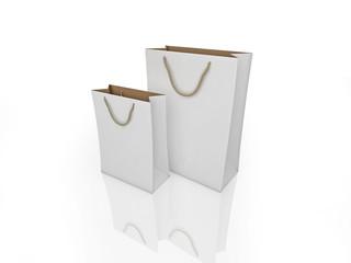 White shopping bags
