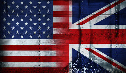 American and British flag