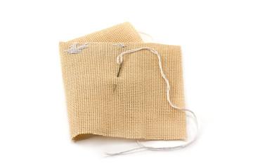 Fabrics, flax, needle with threaâ