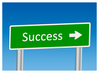 """Success"" signpost"