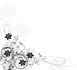 coin floral noir et étoiles