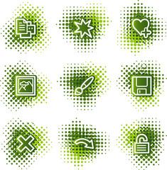 Image viewer web icons, green dots series set 2