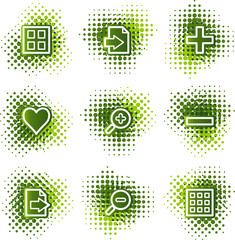 Image viewer web icons, green dots series