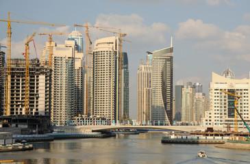 Highrise buildings at Dubai Marina, United Arab Emirates