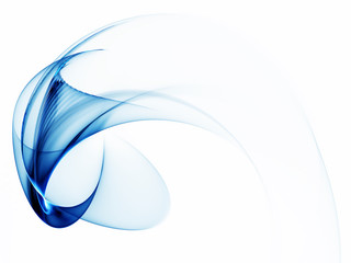 dynamic blue abstract background on white