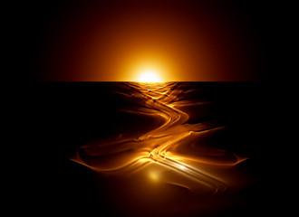 hot magma flow