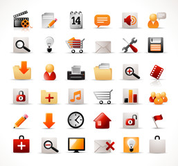 website and multimedia icons set