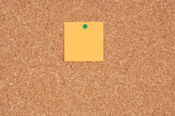 Noticeboard with a color note