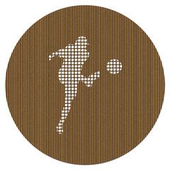 Pierced Cardboard Soccer Medallion