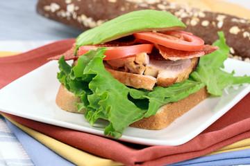 turkey breast open face sandwich