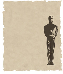vector oscar statuette background