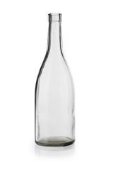 empty wine bottle  isolated on white background