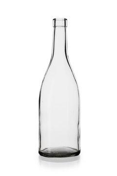 empty wine bottle  isolated on white background