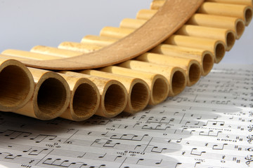 Pan flute and notes