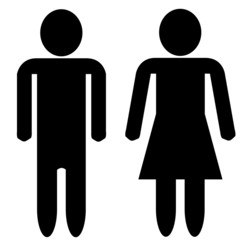Man and woman silhouette - blank faces