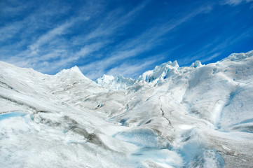 Surface of a glacier in patagonia.