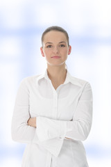 cinfident businesswoman