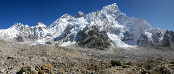 Panorama Everest & Nupse from Kalapattar, 5545m