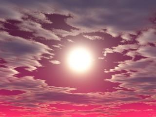 Himmel mit Sonne und Wolken