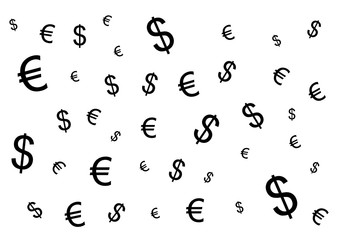 Background Dollar and euro