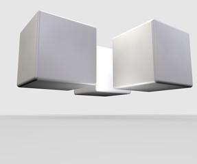 cubi bianchi dal basso