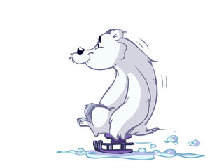 polar bear on sled