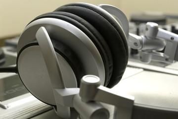 Audio Mixing Console with headphones