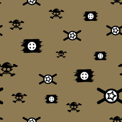 Vector Seamless pattern in military style