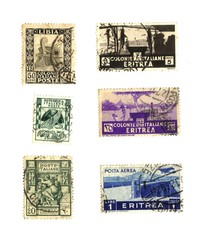 stamps of the Italian colonies in Africa