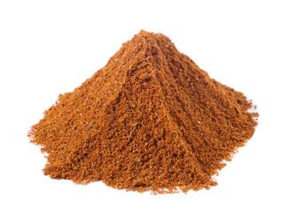 spices - pile of tandoori masala over white