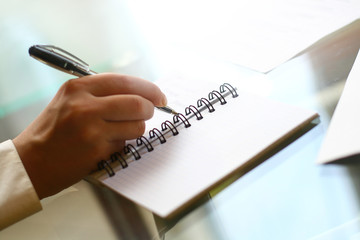 write in note