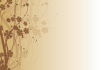 fond floral marron dégradé
