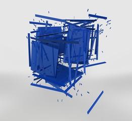 cubo blu esploso