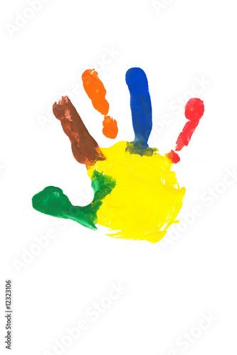 Kinder Handabdruck Stock Photo And Royalty Free Images On Fotolia