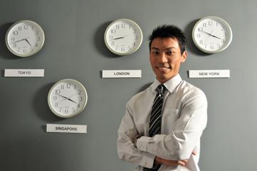 Executives With International Clocks