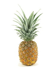 Pineapple on white isolated background.