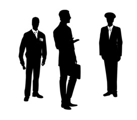Silhouette of people . Vector illustration