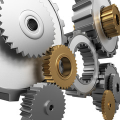 isolated gears and pinions