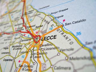 Cartina Lecce