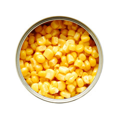 tin can with sweet corn