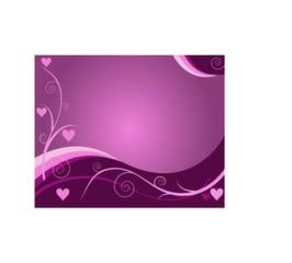 heart ornamented purple background