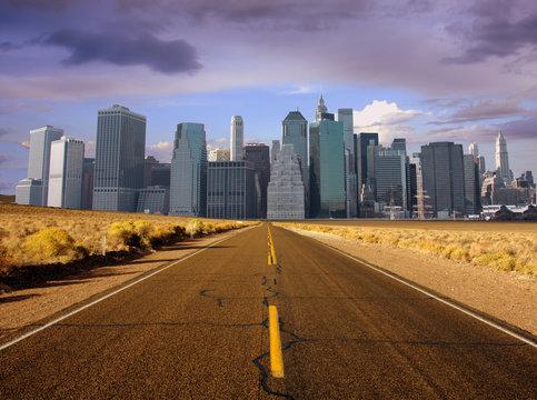 route vers centre urbain