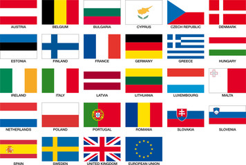 all 27 flags of the european union