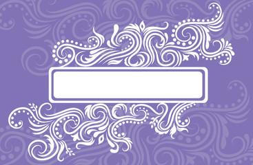 Violet banner.