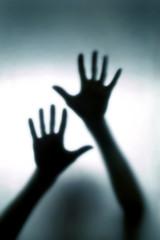 blurred hand