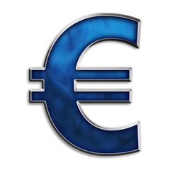Euro currency symbol in smokey blue