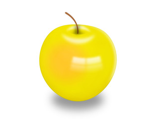Very tasty and juicy yellow  apple
