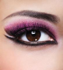 beauty purple make-up