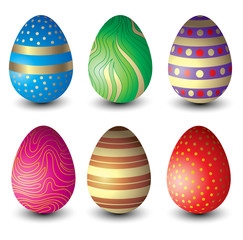 Set of beautiful Easter eggs